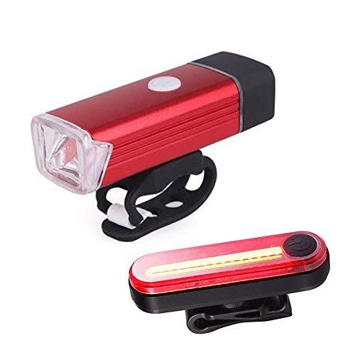 USB-oplaad-fietslampenset volgens de Duitse bergverordening fietsen nachts achterlichten dode vlinderdas rood wzmdd