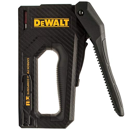 DEWALT Staple Gun, Carbon Fiber Body, 2-in-1 Tacker (DWHT80276)