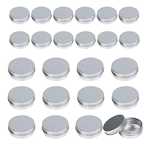 24er Aluminium Leer Döschen,LANMOK 12x 60ML + 12x 30ML Runde Dosen Cremedosen Blechdose Kosmetik...