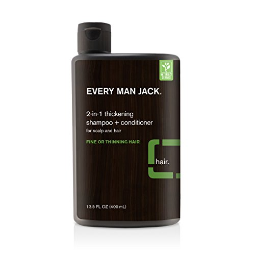 Every Man Jack 2-In-1 Thickening Shampoo and Conditioner - Tea Tree, 13.5-Ounce