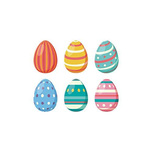 Amosfun Pascua Etiqueta de la Pared Huevo extraíble decoración de la Pared calcomanías Ventana de Pascua se aferra Pascua Decoraciones para el hogar Adornos