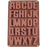 Buchstaben Silikonform, 26 teilig, 34 x 22 x 3 cm