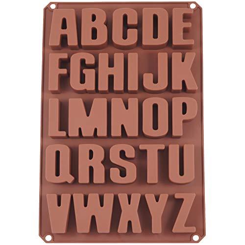 Seifenprofis 26 Buchstaben -Extra Stabil- Silikonform Seifenform Backform Schokoladenform 34 * 22.5 * 2.5CM