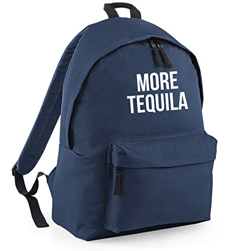 More Tequila Funny Backpack Rucksack Dimensions: 31 x 42 x 21 cm Capacity: 18 litres Ruck Sack-Small-Navy