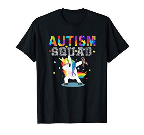 Escuadrón de Autismo Apoyo Autismo Conciencia Camiseta
