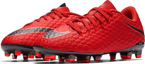 Nike Jr Hypervenom Phelon III FG, Botas de fútbol Unisex niño, Rojo (Rojo Universitario/Carmesí Brillante/Negro 616), 35 EU