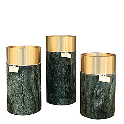 WXQ-XQ Marble High-end Vase Decoration Post-Modern Style Home Decoration Creative Decoration Gift (Size : The Green Circle Caliber-Large)