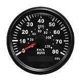 Forspero 85Mm Gps 80Mph 130Km/H Tachimetro Contachilometri Gauge Per Auto Camion Moto Barc...