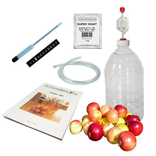 Cider Maken Kit Volledige Starter 5L PET Demijohn Plus Mead & Ginger Bier