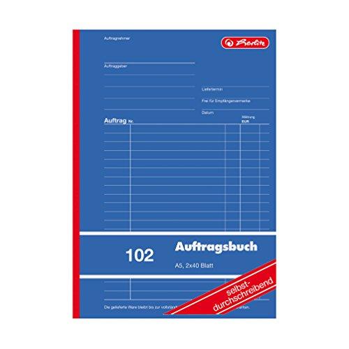 Preisvergleich Produktbild Herlitz Commande livre A5,  2 x 40 feuilles,  même Par ibend d'écriture,  1 pièce