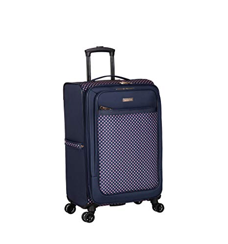Isaac Mizrahi Soho 28' 8-Wheel Spinner Luggage, Navy Red