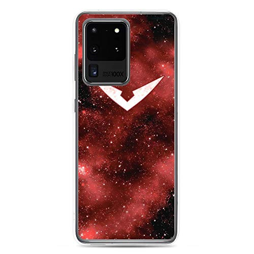 Bynight Compatible with Samsung S20 Ultra Case Voltrons Legendarys Defenders Series Animated Galaxy Logo Red Lion Web Actions American Pure Clear Phone Cases Cover