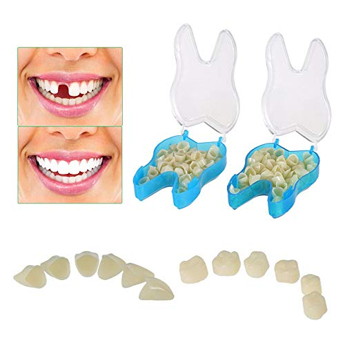 Temporary Tooth Crown Teeth Veneers Cosmetic Braces Temp Tooth Repair Material Front & Molar Posterior offering Help in Fixing Missing and Broken Tooth (2 boxes around 100 pcs)