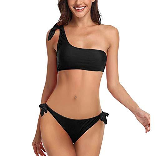 heekpek Costumi da Mare Costume da Bagno Donna Due Pezzo Bikini Sexy Costumi Interi Una Spalla Bikini Set Push Up Piaggia Beachwear Swimwear