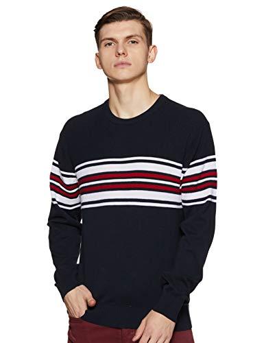 Arrow Sports Men's Cotton Sweater (ASYSW4227_Navy_XXLFS)