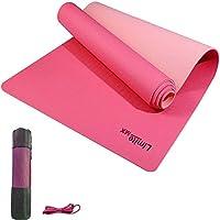 Límite-MX Tapete de Yoga Antideslizante con Material ecológico TPE Agarre de alto rendimiento, acolchado ultra denso...