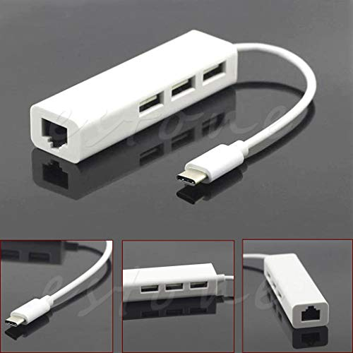 Ontracker USB 3.1 tipo C a USB HUB con adaptador LAN RJ45