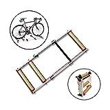 LKNJLL Bicicleta de Rodillos Ajustables en Bicicleta Trainer Soporte Plegable Cubierta del Rodillo Ciclo de la Bicicleta con la Resistencia de la Bici del Camino de MTB Ejercicio