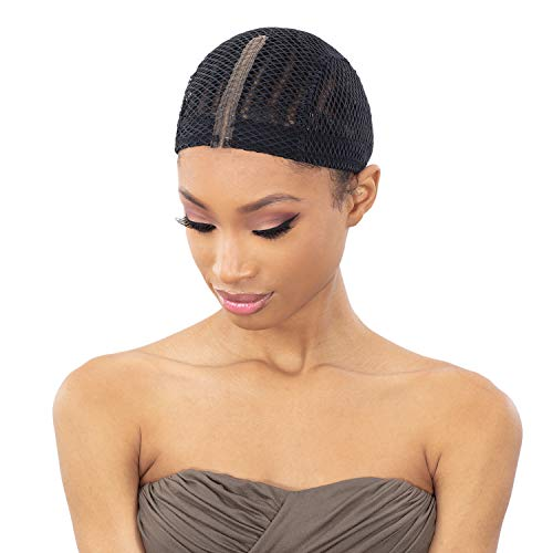 Freetress Anti Slip Lace Crochet Wig Cap (BLACK)