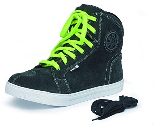 Zapatillas de motorista Kochmann; fabricadas en piel, color gris,...