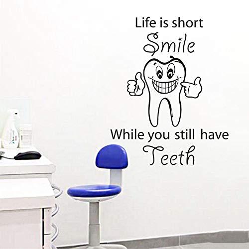 Cooldeerydm Smiling tand-muursticker, vinyl