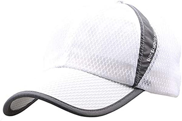 Wabaodan Quick Dry Sports Hat Lightweight Breathable Soft Outdoor Run Cap Men S Sun Caps For Tennis Golf Baseball Fishing Hiking White