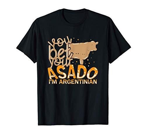 Lustiger Asado argentinischer Grill, der für einen Asador T-Shirt