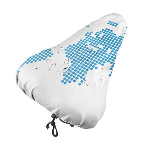 Funda para asiento de bicicleta para niños Colorido detalle alto Mapa del mundo Protector de asiento femenino Cubiertas de asiento con cordón, resistente a la lluvia y al polvo para la mayoría de lo