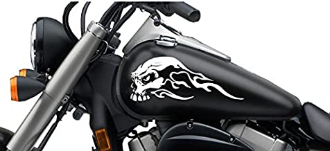 FGD Motorcycle Gas Tank Sweeping Skull Decal Set. 13