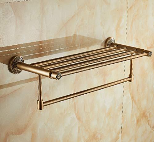 BABAED Vintage Gravure Salle de Bain Accessoires Set-Espace Aluminium,Towelrack
