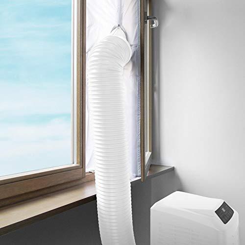 AirLock 100 Hot Air Stop Klimagerät mobile Klimaanlage Fensterabdichtung, Wäschetrockner und Ablufttrockner, AirLock zum Anbringen an Fenster, Dachfenster, Flügelfenster - Umlaufmaß bis 400cm