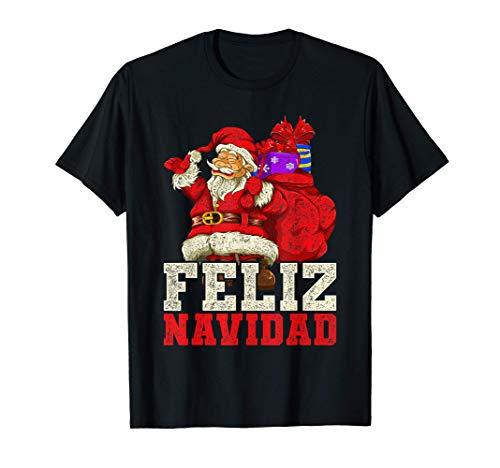 Regalo Divertido de Navidad Para Niños Papá Noel Camiseta