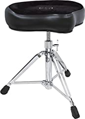 The wide motorcycle-style seat keeps you sitting tall and comfortable in the saddle A very stable yet flexible design makes the Roc'N-Soc a favorite among drummers This Saddle throne by Roc N Soc offers double braced legs and swivel height adjustment...