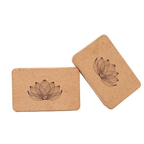 2pcs Cork Yoga Block Ladrillo, 9 'x 6' x 3 'Bloques de ejercicios de yoga Bloques de ladrillos establecidos, respetuosos con el medio ambiente, sin sabor, soporte estable, adecuado para principiantes