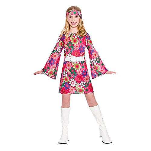 Girls Retro Go Go Girl Fancy Dress Up Party Costume Halloween Child 60s Outfit