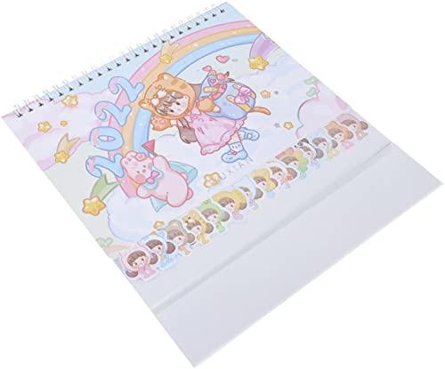 Rainbow Desk Kalendarz dla dziewczynki, stojąc kalendarz klapki z listopada 2021- grudzień 2022, z listy i notatek, pokój do pisania, śliczna dekoracja
