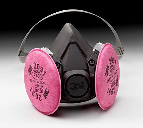 3M Half Facepiece Reusable Respirator Assembly 6391/07003(AAD), Large, P100 Respiratory Protection 051131070030