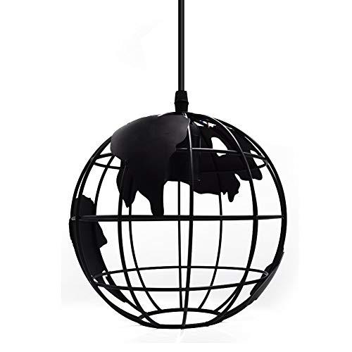 YANGSANJIN industriële creatieve globe hanglamp vintage industriële lamp hanglamp globe art kroonluchter hanglamp E27 lamphouder plafondlamp voor keuken kelder