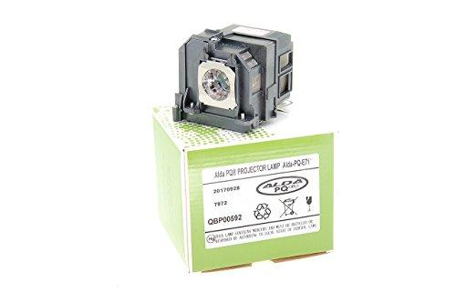 Alda PQ-Premium, Beamerlampe / Ersatzlampe für EPSON BRIGHTLINK 475WI, BRIGHTLINK 480I, BRIGHTLINK 485WI, EB-1400WI, EB-1410WI, EB-470, EB-475W, EB-475WI Projektoren, Lampe mit Gehäuse