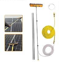 ウィンドウクリーニングポール、ウィンドウクリーナーキット、ウォーター/ホース給油ポール、ウィンドウクリーニングブラシ装置、太陽光発電パネルの清掃(Size:10.5m/34.5ft)