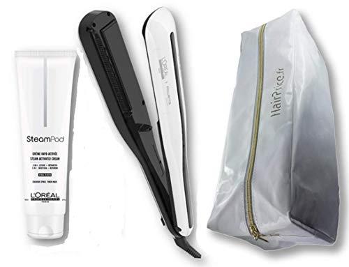 L'Oréal Professionnel Steampod 3.0 Piastra lisciante + crema per capelli spessi da 150 ml + siero da 50 ml + custodia Hairprice