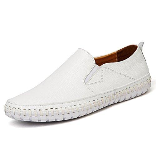 Qianliuk Männer echte Lederschuhe Rutschen auf schwarzen Loafers Moccasins Schuhe italienischen Designer-Schuhe