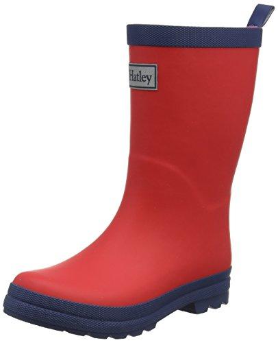 Hatley RB0REDD306, Stivali da Pioggia Wellington Classic Unisex-Bambini, Rosso Rosso Marina, 21 EU