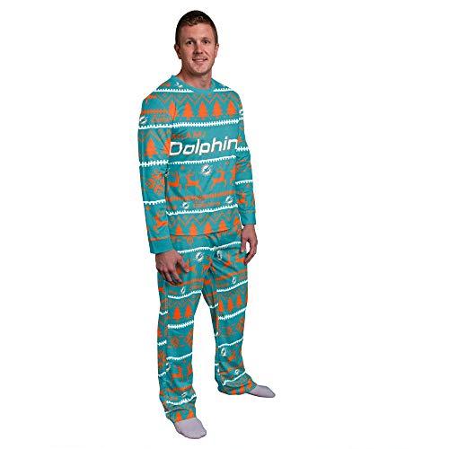 FOCO NFL Winter Xmas Pyjama Schlafanzug - Miami Dolphins - L