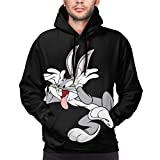 Bugs Bunny Fashion Men's Pullover Long Sleeve Black 3X-Large