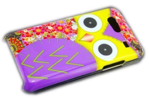 thematys® Samsung Galaxy S Advance i9070 Gufo Lilla Cover Rigida per Custodia-Custodia