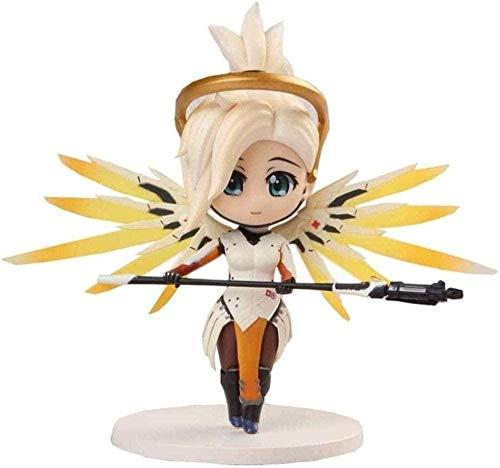 No Anime Figura Angela Overwatch Mercy Juego Modelo PVC 4 Pulgadas Modelo Personaje decoración Regalo