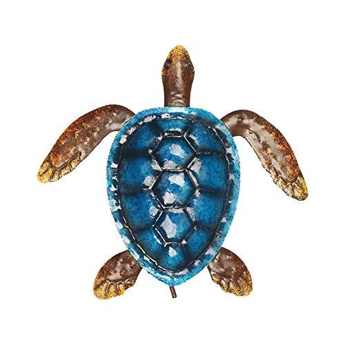 Escultura de metal para colgar en la pared de la tortuga de mar, de GEZICHTA para colgar en la pared, decoración del hogar, colorido océano, escultura de animales de mar