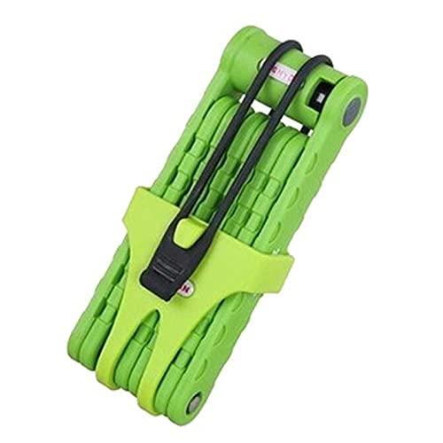 Candado Plegable Compacto para Bicicleta - Candado para Bicicleta de Montaña de 8 Secciones Candado Plegable para Bicicleta - Candado Plegable Antirrobo para Trabajo Pesado,Green