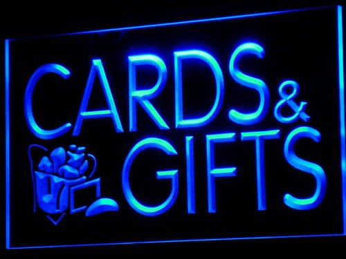 ADV PRO Enseigne Lumineuse i505-b Cards & Gifts Shop Display Lure Neon Light Sign